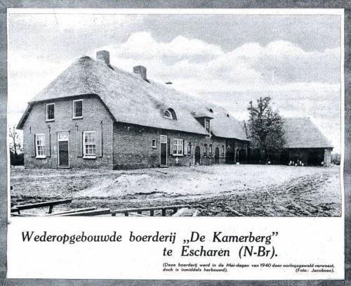 Boerderij Bens na de herbouw 1941. Nu Fam. van Bergen